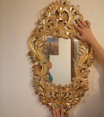 Unikatno zlatno ogledalo sa ukrasnim kamencicima