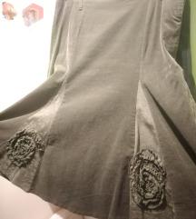 Tamnozelena suknja