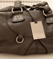 Furla siva, kožna torba