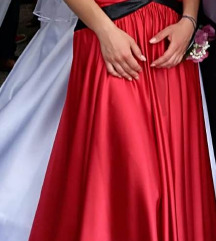 Duga svečana crvena haljina