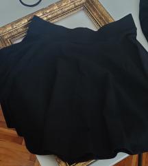 Crna skater suknja