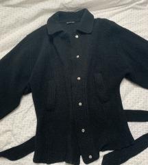 150 kn %% Sisley crna vunena jakna S