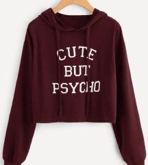 Crop hoodie majica