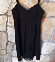 Crna waterfall haljina