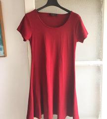 NOVA Bordo crvena skater haljina ❤️