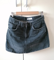 Zara crna mini traper suknja S