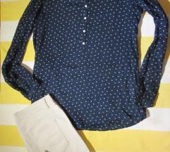 Pamučna tamno plava bluzica ESPRIT