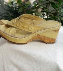 ART sandale prava koža&pluto