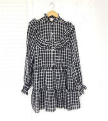 H&M popularna bloger crna haljina s volanima