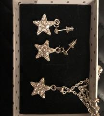 Ogrlica+naušnice u obliku zvijezde
