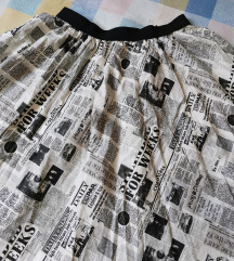 Unikatna suknja novinskog uzorka