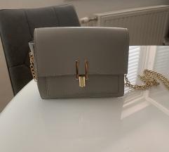 Porpuno nova siva torbica