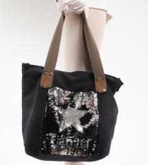 Crna šljokasta torba