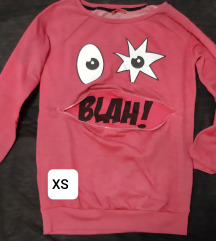 Roza majica s cifom(pomiće se)