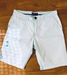 PULL&BEAR kratke hlačice mint zelena 43 cm