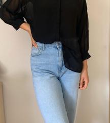 Crna prozirna bluza 🖤