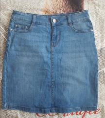 Svijetlo plava jeans suknja iz Orsay