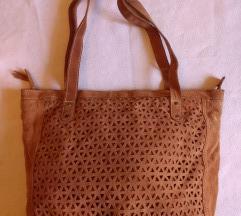 Brušena koža torba