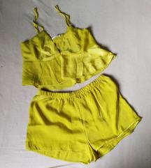 Yamamay žuti babydoll komplet