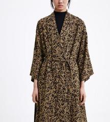 ZARA animal print kimono trench, Tisak uključen