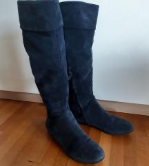 Plave kožne čizme