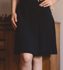 Tamnoplava retro suknja