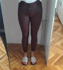 Pimkie kožne hlače visoki struk br.36