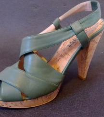 Zelene sandale na petu