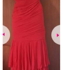 Crvena unikatna haljina