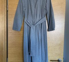 ZARA siva midi haljina