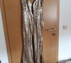 Asos zlatna haljina šljokice! Unikatna!