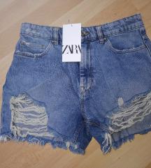 Zara denim kratke jeans hlace