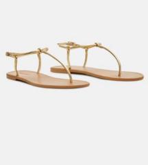 Mango zlatne sandale 37