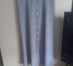 crno bijela pepita suknja midi 38-40