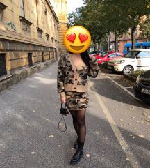Pleteni komplet suknja i vesta