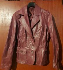 Ciklama kožna jakna