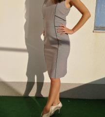 H&M, nova, elegantna, siva, uska haljina