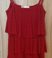 Zara kratka crvena haljina