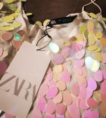 Nova ZARA bijela haljina s ljuskicama 🎀