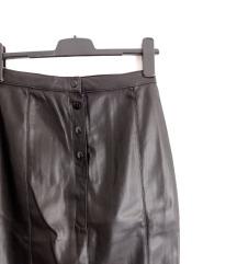 Terranova kožna crna suknja