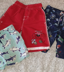 Lot kupaćih/kratkih hlača za dečka 98/104