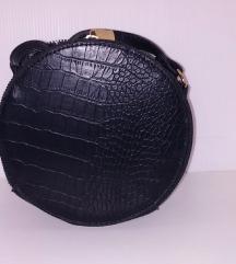 Okrugla crna torbica