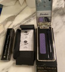 Guerlain deep purple eyeshadow + maskara