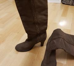 Čizme ženske kožne visoke TOMMY HILFIGER 41