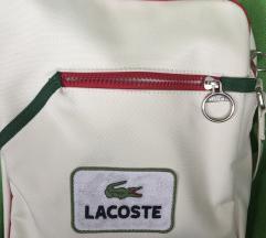 LACOSTE ORIGINAL TORBA RETRO SPORT WHITE