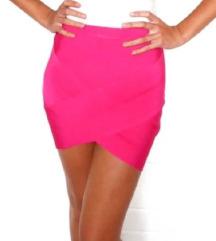 Roza bandage suknja za izlaske - NOVO