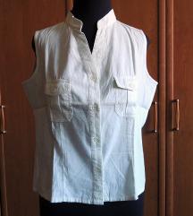 Bijela bluza bez rukava