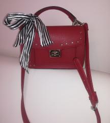 NOVO crvena torba sa mašnom