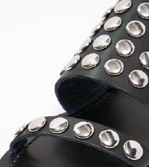 DIESEL crne kožne sandale sa zakovicama