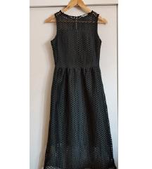 Rupičasta zelena midi haljina H&M